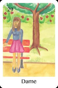 Die Dame als Tageskarte