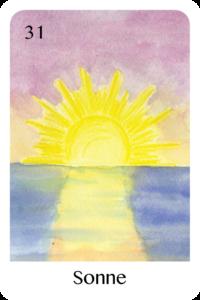 Die Sonne als Tageskarte