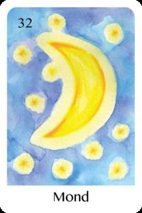 Der Mond als Tageskarte