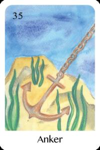 Der Anker als Tageskarte